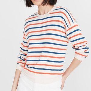 Miles By Madewell Burnett Stripe Sweatshirt sz S